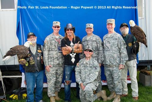 Military Support - Meeting Troops and Veterans - Fair St. Louis 2013