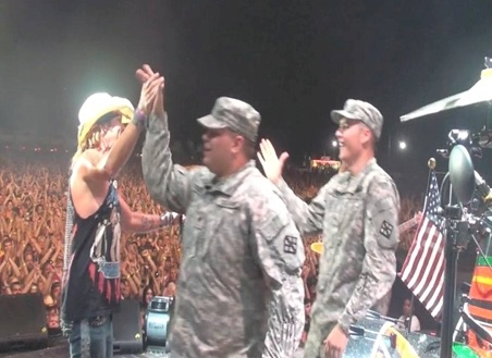 Military Support - Saluting the Troops on Stage